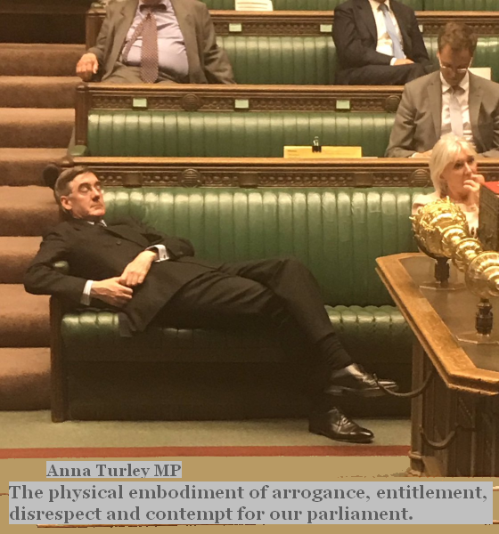 Jacob Rees-Mogg on the job having a (U)kip